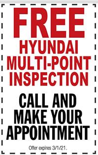Free Hyundai Multi-Point Inspection